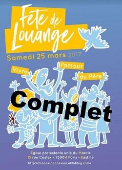 Fête de Louange 2017 - Dernier Rappel !