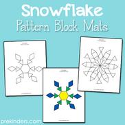 Snowflake Pattern Block Mats