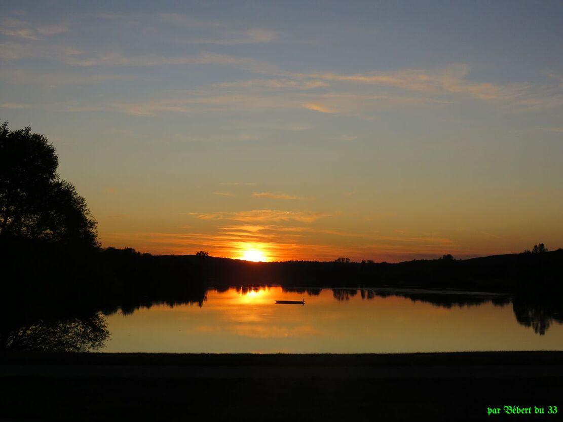 un coucher de soleil !