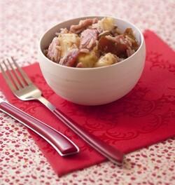 Salade de riz au jambon blanc, tomates et ananas