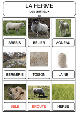 Vocabulaire - La ferme
