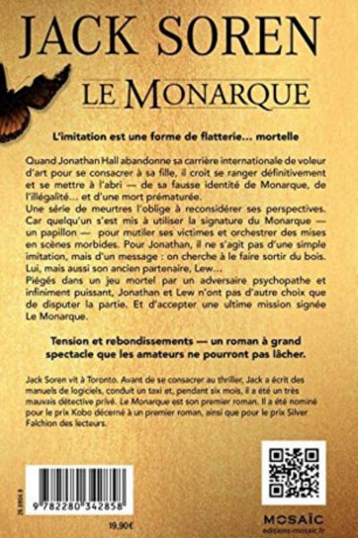 Chronique du roman {Le Monarque} de Jack soren
