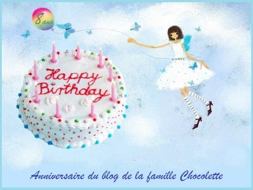 - Anniversaire du blog de la famille Chocolette