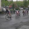 Course cycliste dans les rues de tarbes