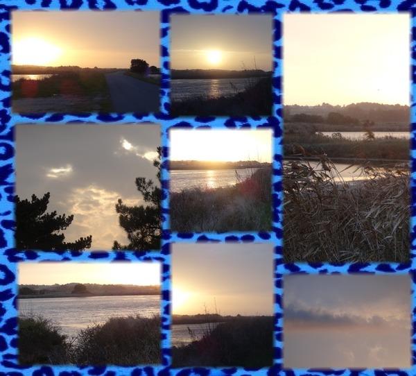 Lever de soleil sur les marais salants avant le nuage jaune