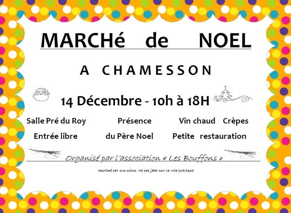 Le marché de Noël de Chamesson aura lieu ce dimanche