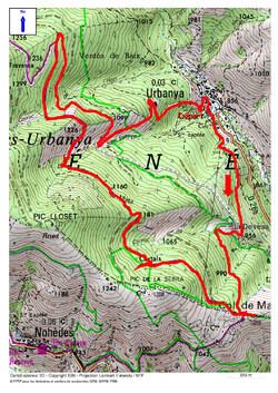 Le Circuit de la Matte (Mata) (1.205 m) depuis Urbanya (856 m)