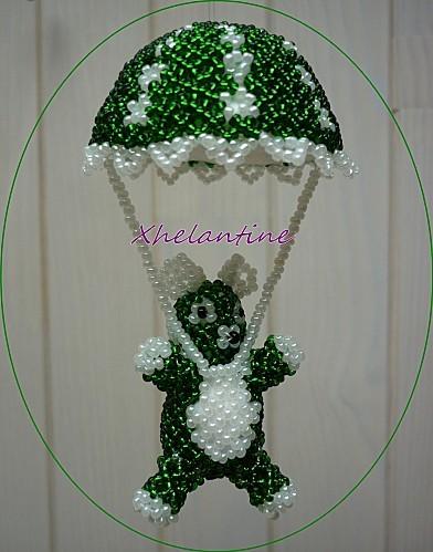 ourson parachutiste vert blanc 1