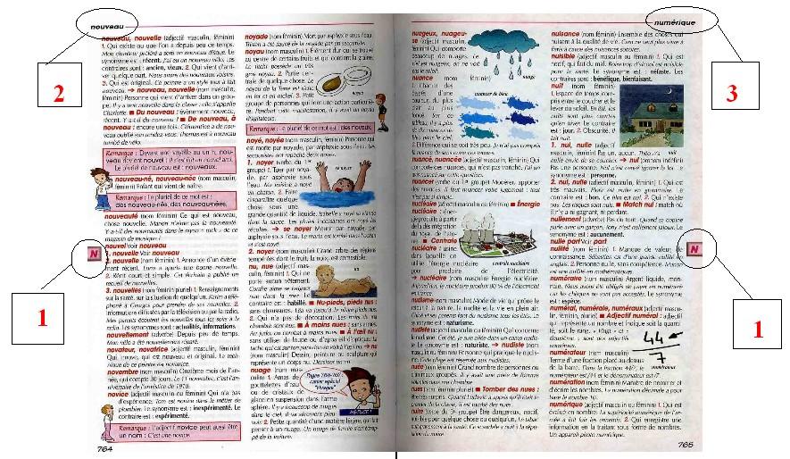Vocabulaire cm2 le cartable de nathacha for Dans wiktionnaire