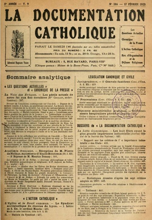 Mgr Chollet - L'occultisme (1923)