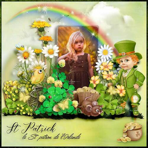 St Patrick A Wonderful Day by dentelle scrap