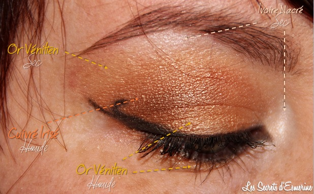 tutoriel, maquillage, make-up, mu, avril, or, cuivre