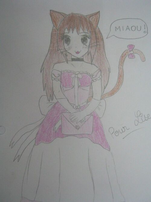 Dessins #6 - Princesse chat :3