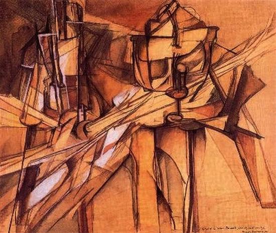 Marcel Duchamp, Le roi et la reine traversés par des nus vites