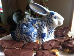 brioche lapin, ou peut etre cochon d'inde, fourré au chocolat!