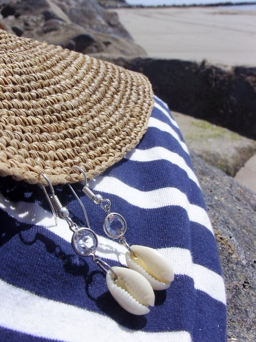 Boucles d'oreilles bord de mer