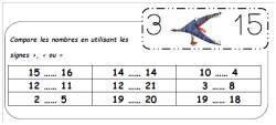 CP - Comparer les nombres inférieurs à 20.