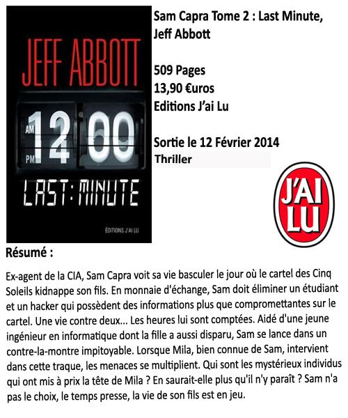 Sam Capra tome 2 : Last Minute, Jeff Abbott