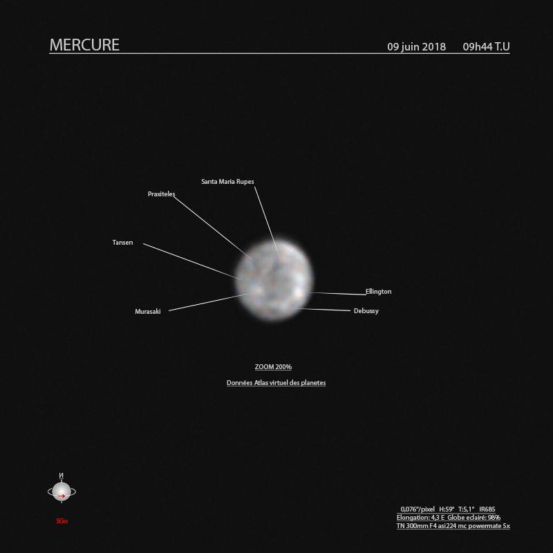 Mercure; le 9 juin 2018