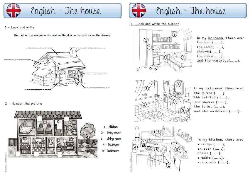 The house la classe de l rien for Anglais vocabulaire maison