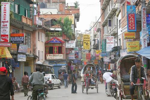 le quartier Thamel à Kathmandu
