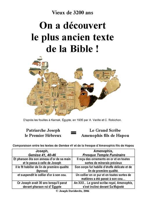 On a découvert le plus ancien texte de la Bible