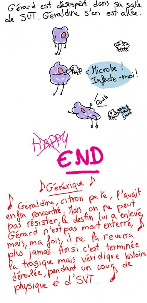 Gérard et Géraldine ou l'histoire d'amour impossible entre une cellule bucale et une citronne pelée * PSJ 7 *