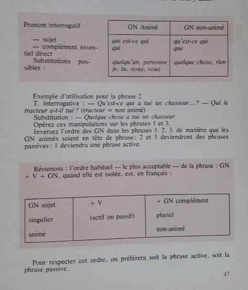 C / Forme active ou forme passive ?