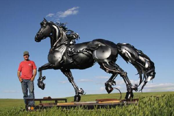 D'incroyables sculptures...