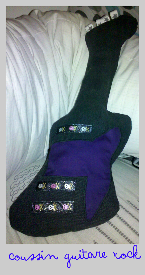 coussin guitare Rock