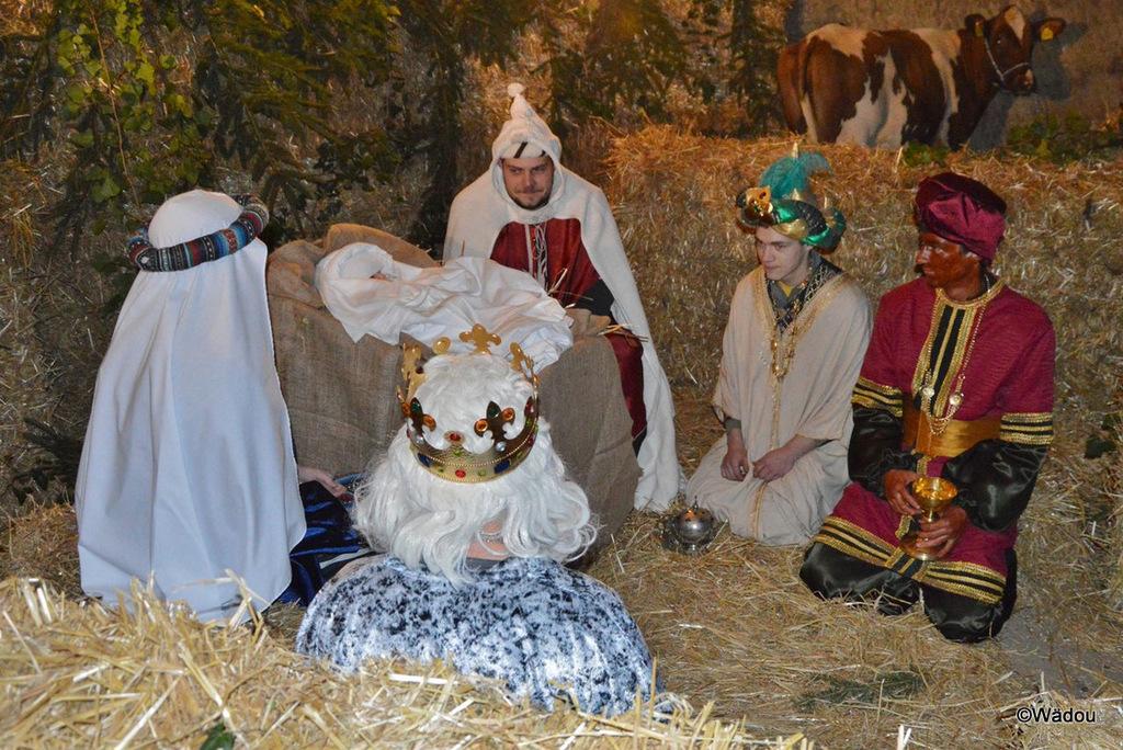 La crèche vivante de Noël du 21 décembre 2013 à Wallenried