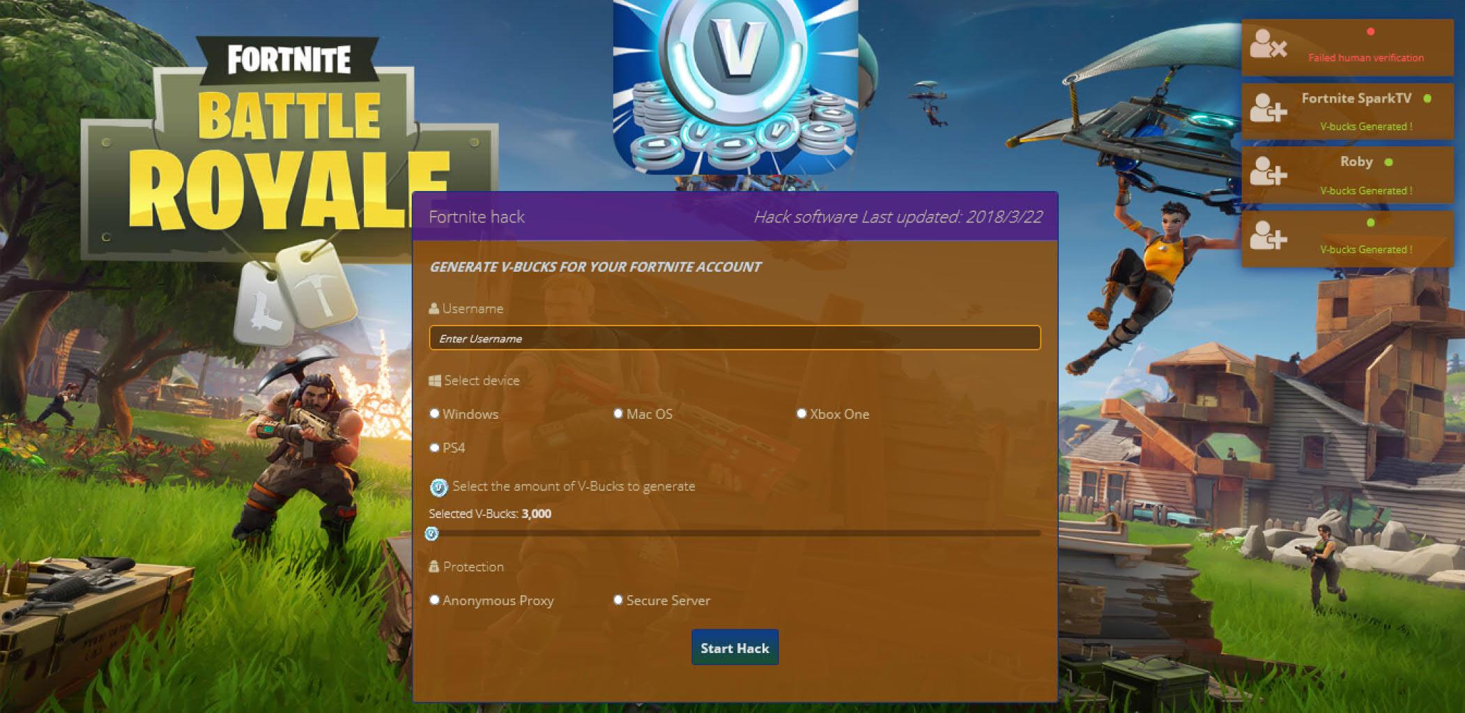New Fortnite Battle Royale Online Generator Get Unlimited V Bucks