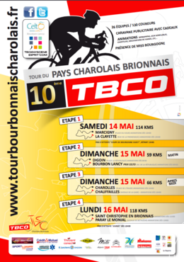 Course cycliste du pays Charolais Brionnias