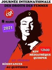 Droits des femmes: la CGT organise un rassemblement le 8mars à Quimper
