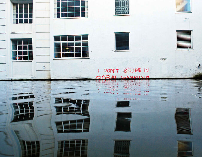 Global warming and street art
