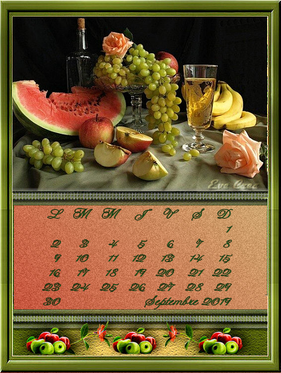 calendriers septembre