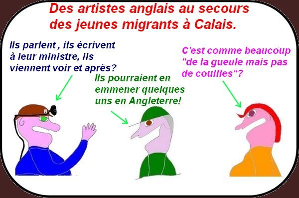 Des artistes à Calais,