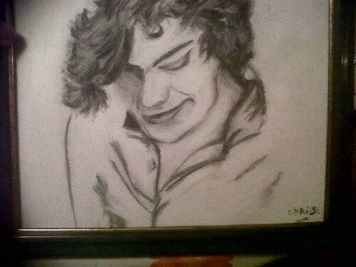 "Harry ""one direction"" : portrait fusain!"