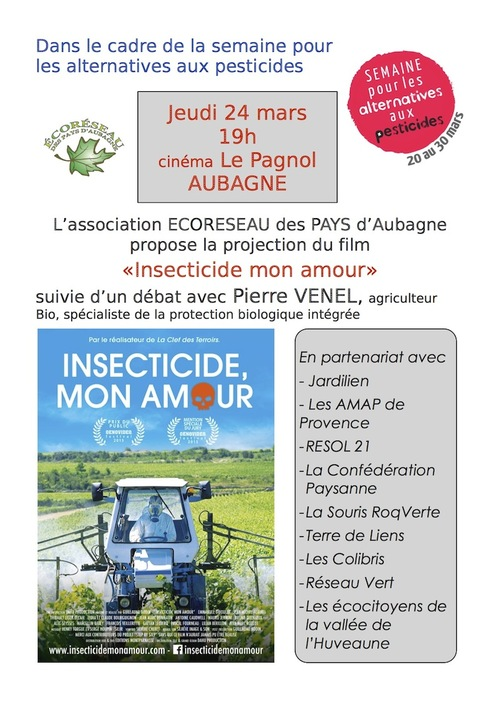 "Projection ""Insecticide, mon amour"""