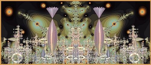 Complexe N 193  fractale de Joel Georges ( Joden ) logiciel Incendia
