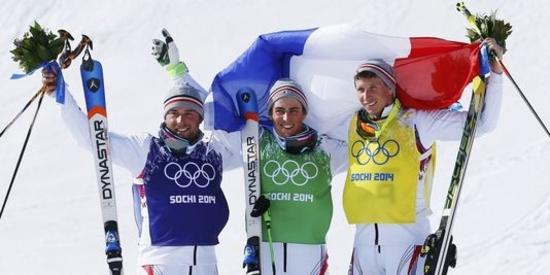 Triplé français à Sochi