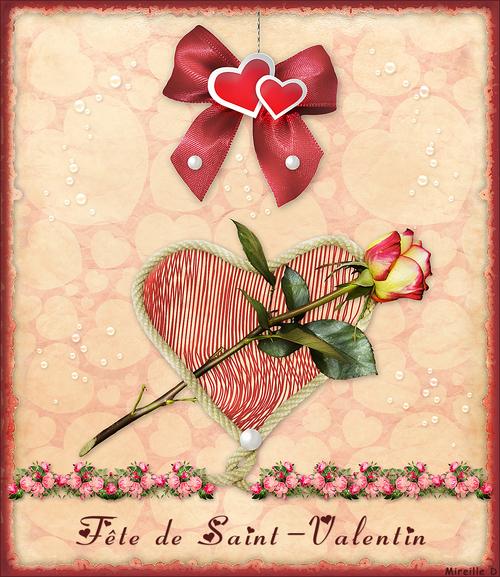 Rose de Saint-Valentin (Carte Montage)