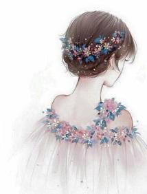 Image de girl, flowers, and art