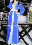 Takchita-marocaine-bleu avec perlage marocaine pas cher-TAK-S946