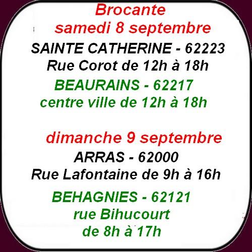 Défilé à Beaurains, fête communale et brocante à Arras et ses envoirions de week-end.