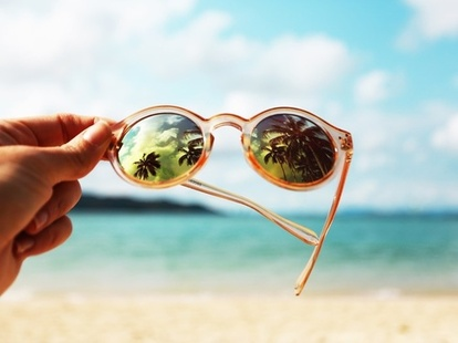 Dream, sea, blue, summer, beach, nature, glasses, ocean