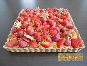 Tarte aux fruits rouges & crème passion