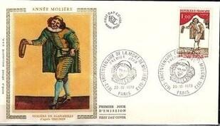enveloppe 1er jour molière 1973
