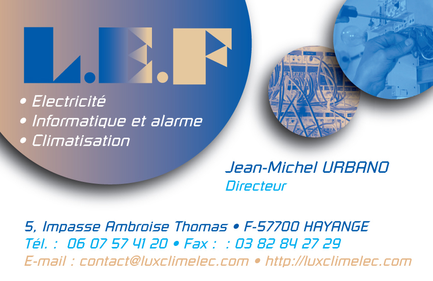 Cartes De Visite Pour Lentreprise Delectricite Industrielle LED