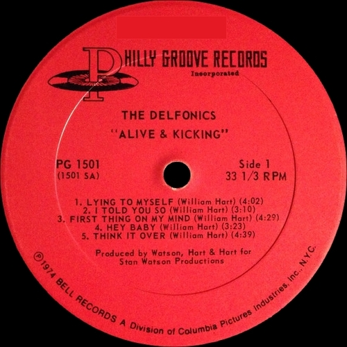 """The Delfonics : Album """" Alive & Kicking """" Philly Groove Records PG 1501 [ US ]"""